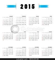 Simple 2015 Calendar Simple 2015 Year Calendar Illustration Stock Photo