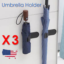 3 pcs umbrella holders stand for car home indoor black wall mount adhesive