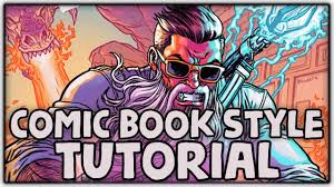ic book art style process tutorial super easy