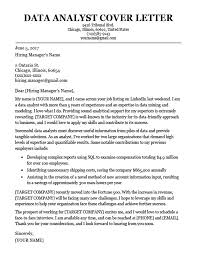Data Analyst Cover Letter Sample Resume Companion