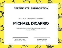 Certificate Of Appreciation Volunteer Work Customize 75 Appreciation Certificates Templates Online Canva