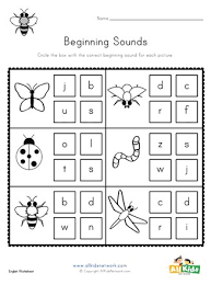 Let me give my standard disclaimer and say that i don't think you should make worksheets the main part of your instruction in new zealand we only teach lower case phonics so these are perfect for my new entrant class. Bug Beginning Sounds Worksheet All Kids Network