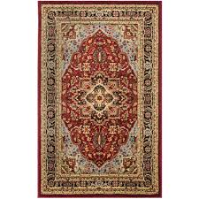 safavieh lyndhurst red black 4 ft x 6 ft area rug