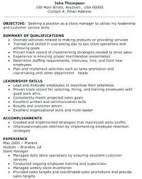 Retail Department Manager Resume Resume Department Manager Sample