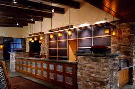 Front Desk Hospitality Interior Design of Bear Creek Mountain Hotel,  Pennsylvania