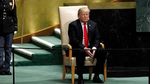 Image result for trump un images sitting alone