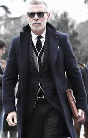cool mens winter outfits style inspiration navy blue coat with vest