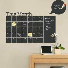 calendar office chalkboard calendar wall sticker month calendar wall decal for
