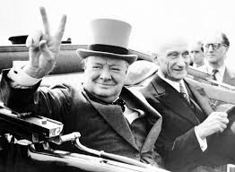 lost winston churchill essay considers possibility of life on winston churchill gives his famous v sign as he rides through cheering inhabitants of