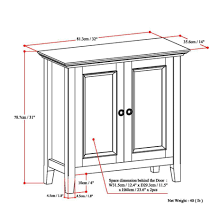Low Storage Cabinet Simpli Home Amherst 2 Door Low Storage Cabinet Reviews Wayfair