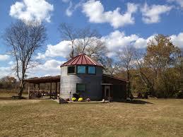 Grain Bin Home Outside Of 2 Grain Bins Turned Into A House Silo House