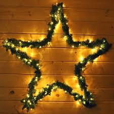 Weihnachtsstern 100 Cm Mit Girlande Und 130 Led Lichterkette Für Außen