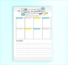 Meal Budget Planner Weekly Budget Planner Best Free Budget Templates Daily