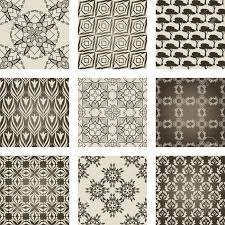 Repeating Patterns Enchanting Set Of Nine Repeating Patterns In Retro Style Royalty Free Cliparts