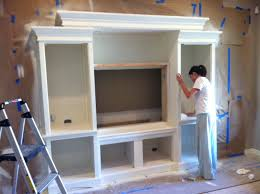 Built In Drywall Shelves In This Post We Show How We Used A Second Hand Entertainment