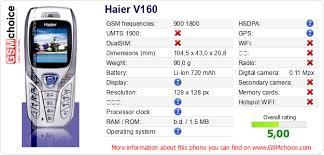 Haier V160 :: GSMchoice.com