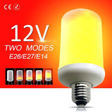 12v led lamp led lamp flame effect bulb corn bulb decorative lights flickering emulation 12v led lampe an autobatterie