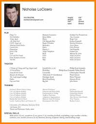 Actor Resume Examples Gorgeous Actors Resume Sampleacting Resume Sample Pretty Design Acting