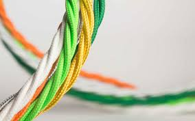 fabric lighting cable 3 core. Twisted Fabric Lighting Cable | 3 Core E
