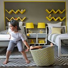 Awesome Chevron Bedroom Contemporary Kids