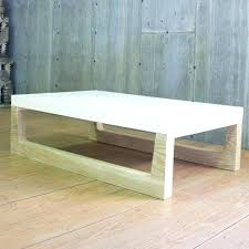 white clad coffee table