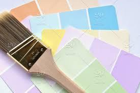 Pastel paint colors Palette Get Permission To Sell Twenty20 Vibrant Pastel Paint Color Samples With Paintbrush Copy Space