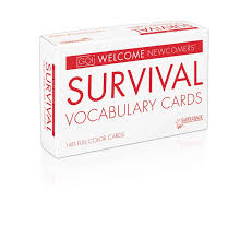 vocab cards with pictures go welcome newcomers tween survival vocabulary cards 9781680215236