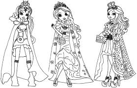 Small Picture Ever After High Coloring Pages for Kids Download Print Online
