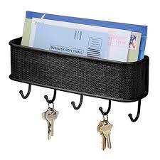 iDesign <b>Wall</b> Mounted Letter Rack, <b>Plastic</b> and Metal <b>Key Holder</b> ...