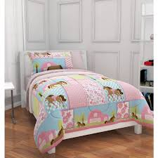 Pony Bedroom Accessories Mainstays Kids Country Meadows Bed In A Bag Bedding Set Walmartcom