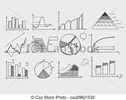 Drawing Chart Hand Draw Doodle Elements Chart Graph Concept Business Finance Analytics Earnings Statistics