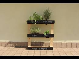 how to build a pallet herb garden you