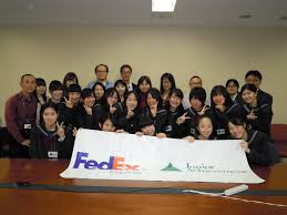 fedex express conducts one day job shadow program students from setoku university girls high school job shadow fedex employee volunteers