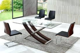 contemporary round glass dining table modern kitchen awesome sets ta