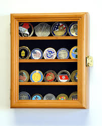 55 00 military challenge coin wall display