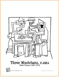 Small Picture Three Musicians Free Printable Coloring Page