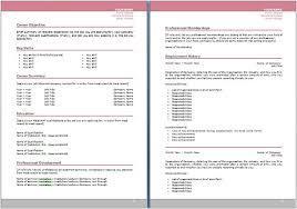 Australian Format Resumes Cv Template Australia Word Cv Template Standard