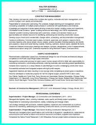 Construction Superintendent Resume Examples How To Be A