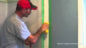 Grouting wall tile Grout Shower Youtube How To Grout Wall Tiles Youtube