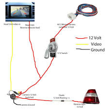 how to install a reversing camera to car dvd stereo headunit car 1 you will notice that the reverse backup camera itself has three wires one yellow video rca plug red and black wires for power