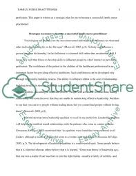 strategic plan family nurse practitioner essay  family nurse practitioner essay example text preview