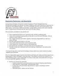 Job Qualifications Sample Templates Electronic Technician Resume Sample 24 Computer Job 22