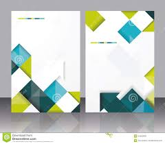 Pamphlet Template Free Vector Brochure Template Design With Cubes And Arrows Elements