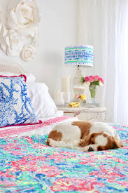 colorful bedroom update with the new lilly pulitzer pottery barn collection