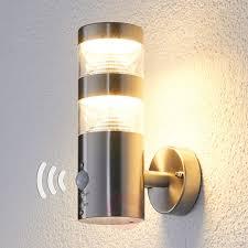 led outdoor wall light lanea with motion sensor
