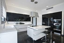 Black High Gloss Kitchen Doors Black White Kitchens A Timeless Contrast For Your Home See