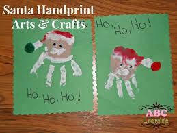 Christmas Arts And Crafts For Kids Santa Handprint Arts Crafts For Kids
