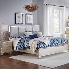 Delightful Marilyn Champagne 5 PC Queen Bedroom