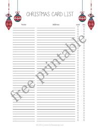 Christmas Card Mailing List Christmas Card List Free Printable Diary Of A Southern Mrs