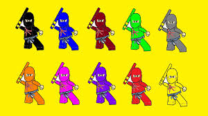 Small Picture Learn Colors For Kids With Lego Ninjago Coloring Pages Part 9